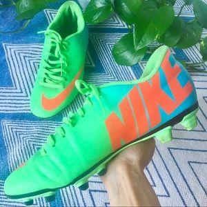 NIKE Mercurial Soccer Cleats neon green blue 8.5